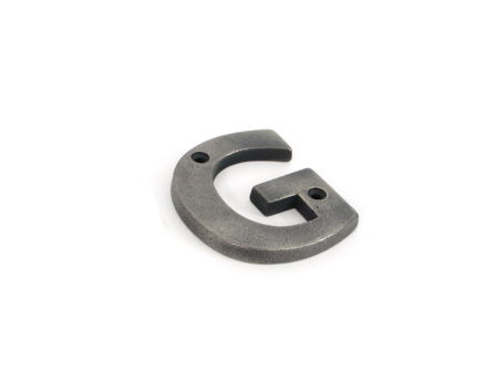 Antique Pewter Letter G