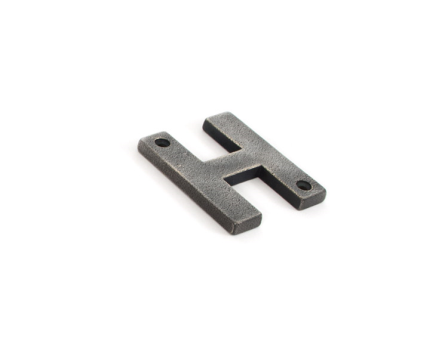 Antique Pewter Letter H