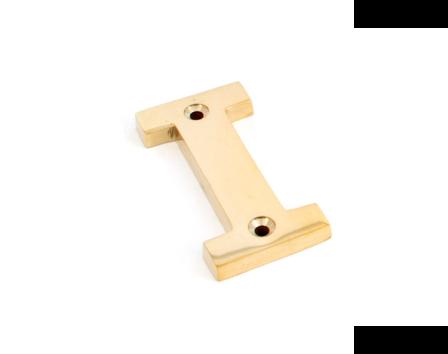 Polished Brass Letter I