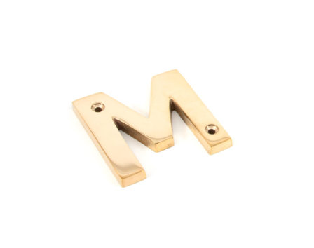 Polished Brass Letter M