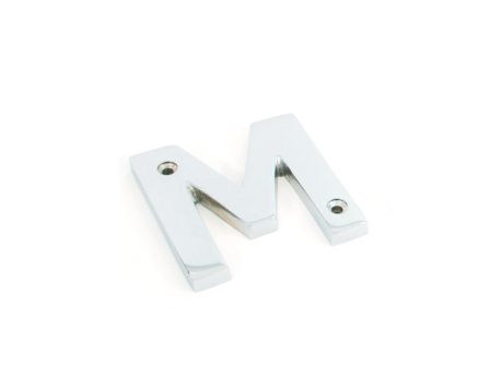 Polished Chrome Letter M