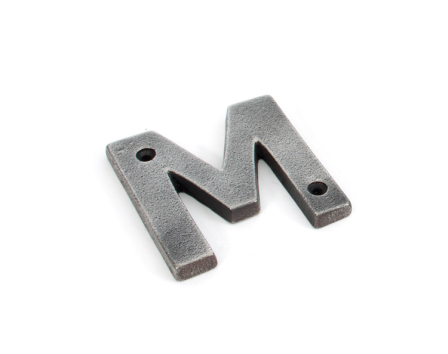 Antique Pewter Letter M
