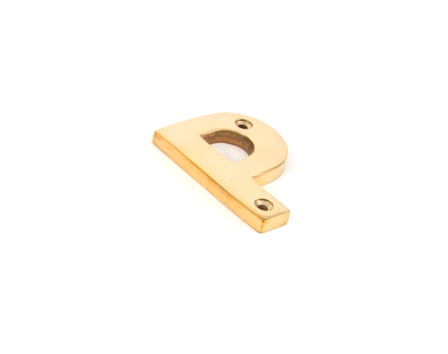 Polished Brass Letter P