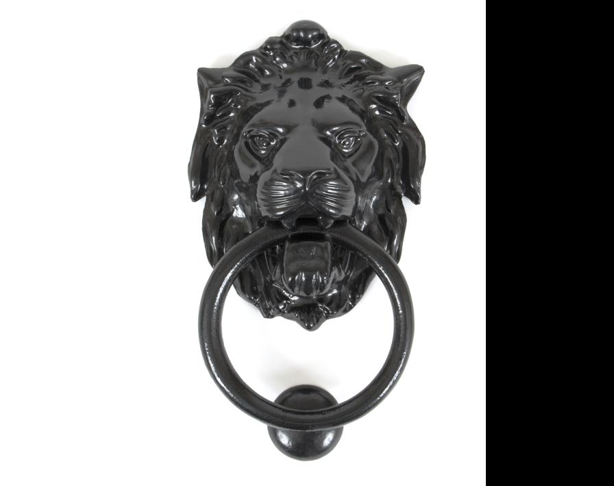 Lions Head Door Knocker Black