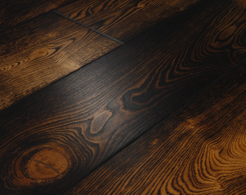 Clasico Dark Oak Flooring Brushed amp Burned