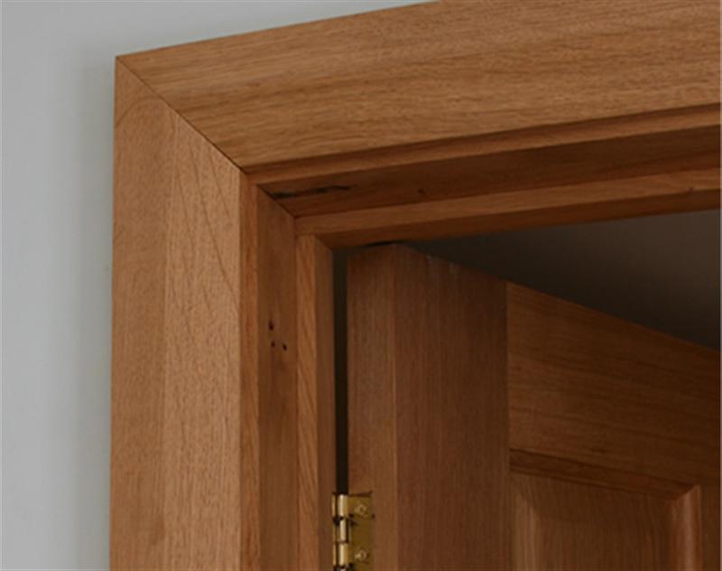 Chamfered oak architrave oak architrave for Door architrave