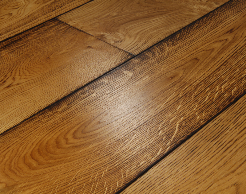 Clasico Medium Oak Flooring Brushed Amp Burned Oak Flooring